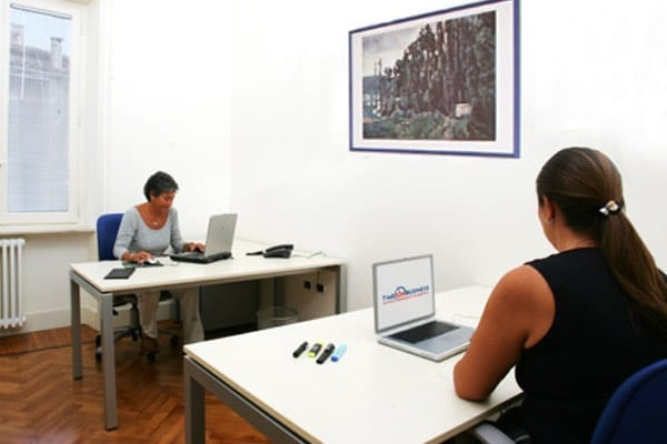"""""""Cezanne"""" office Size: 14 sq. mts. Workstations: 2 Description: quiet and comfortable office. Bright and sunny especially in the morning"""