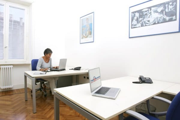 """""""Picasso"""" office Size: 16 sq. mts. Workstations: 2 Description: large and comfortable office, very bright and sunny"""